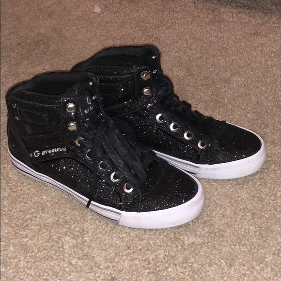 Guess Shoes | Guess Black Sparkly High